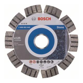 Bosch Diamanttrennscheibe Best for Stone, 125 x 22,23 x 2,2 x 12 mm