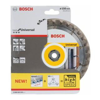 Bosch Diamanttrennscheibe Best for Universal 150 x 22,23 x 2,4 x 12 mm