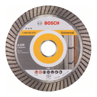Bosch Diamanttrennscheibe Best for Universal Turbo 125 x 22,23 x 2,2 x 12 mm