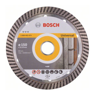 Bosch Diamanttrennscheibe Best for Universal Turbo 150 x 22,23 x 2,4 x 12 mm