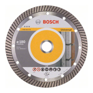 Bosch Diamanttrennscheibe Best for Universal Turbo 180 x 22,23 x 2,5 x 12 mm