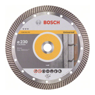 Bosch Diamanttrennscheibe Best for Universal Turbo 230 x 22,23 x 2,5 x 15 mm