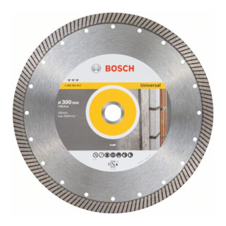 Bosch Diamanttrennscheibe Best for Universal Turbo 300 x 25,40 x 3 x 15 mm