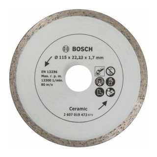 Bosch Diamanttrennscheibe für Fliesen