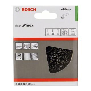 Bosch Edelstahl-Topfbürste mit gewelltem Draht