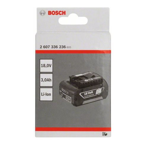 Bosch Einschubakkupack 18V-Standard Duty (SD) 3,0 Ah Li-Ion GBA M-C