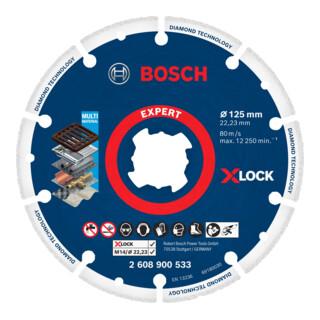 Bosch EXPERT Diamond Metal Wheel X-LOCK Trennscheibe 125 x 22,23mm für Winkelschleifer mit X-LOCK und mit Spannmutter
