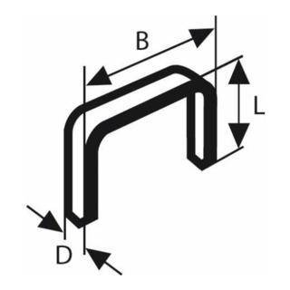 Bosch Feindrahtklammer Typ 53, 11,4 x 0,74 x 8 mm, aus rostfreiem Stahl