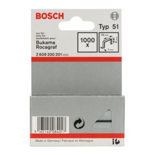 Bosch Flachdrahtklammer Typ 51 10 x 1 x 8 mm
