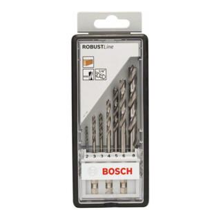 "Bosch Holzspiralbohrer-Set Robust Line 1/4""-Sechskantschaft 7-teilig 2 - 8 mm"
