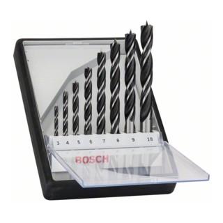 Bosch Holzspiralbohrer-Set Robust Line, 3 - 10 mm, 8-teilig