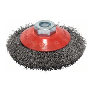 Bosch Kegelbürste, gewellter Draht, 0,3 mm, 100 mm, 12500 U/min, M 14