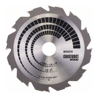 Bosch Kreissägeblatt Construct Wood 190 x 30 x 2,6 mm 12