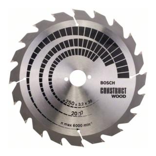 Kreissägeblatt Construct Wood, 250 x 30 x 3,2 mm, 20