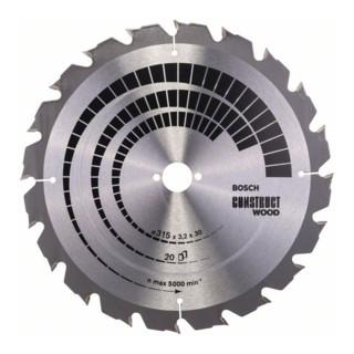 Bosch Kreissägeblatt Construct Wood für Tischkreissägen
