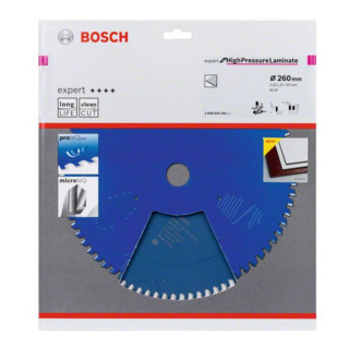 Bosch Kreissägeblatt Expert for High Pressure Laminate 260 x 30 x 2,8 mm 80