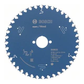 Bosch Kreissägeblatt Expert for Wood, 190 x 30 x 2,6 mm, 40