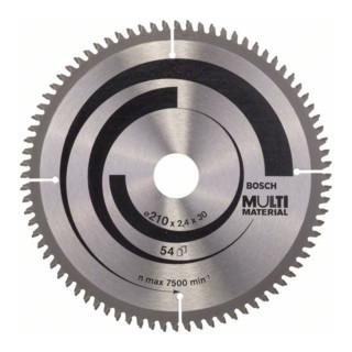 Bosch Kreissägeblatt Multi Material für Kapp-, Gehrungs- und Tischkreissägen