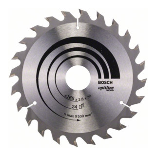 Bosch Kreissägeblatt Optiline Wood für Handkreissägen
