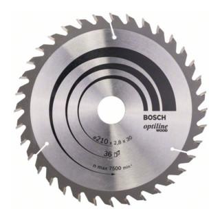 Bosch Kreissägeblatt Optiline Wood für Handkreissägen 210 x 30 x 2,8 mm 36