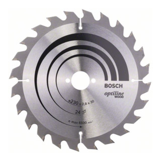 Bosch Kreissägeblatt Optiline Wood für Handkreissägen 230 x 30 x 2,8 mm 24