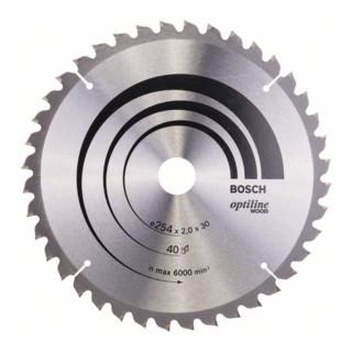 Bosch Kreissägeblatt Optiline Wood für Kapp- und Gehrungs. 254 x 30 x 2 mm 40 WZ/N
