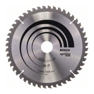 Bosch Kreissägeblatt Optiline Wood für Kapp- und Gehrungssägen, 210 x 30 x 2,0 mm, 48
