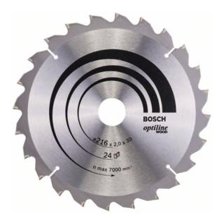 Kreissägeblatt Optiline Wood für Kapp- und Gehrungssägen, 216 x 30 x 2,0 mm, 24