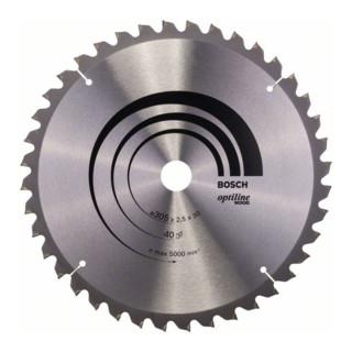 Bosch Kreissägeblatt Optiline Wood für Kapp- und Gehrungssägen, 305 x 30 x 2,5 mm, 40