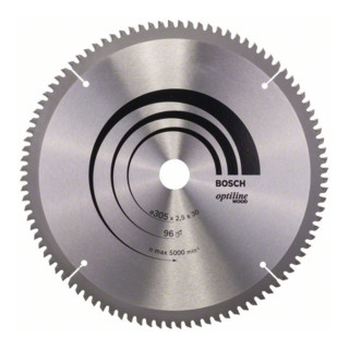 Bosch Kreissägeblatt Optiline Wood für Kapp- und Gehrungssägen 305 x 30 x 2,5 mm 96