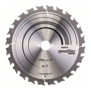 Bosch Kreissägeblatt Speedline Wood für Tischkreissägen