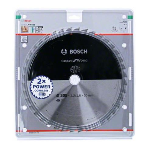 Bosch Kreissägeblatt Standard for Wood für Akkusägen 305x2.2/1.6x30, 40 Zähne
