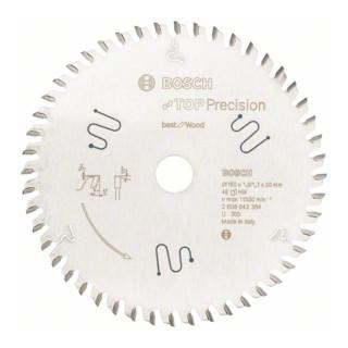 Bosch Kreissägeblatt Top Precision Best for Wood 165 x 20 x 1,8 mm 48