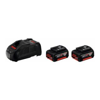 Bosch Ladegerät Starter-Set GAL 1880 CV und 2 x GBA 18 V 5,0 Ah M-C