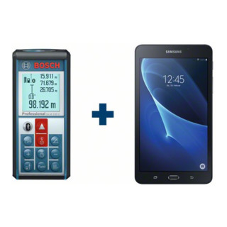 Bosch Laser-Entfernungsmesser GLM 100 C mit Tablet