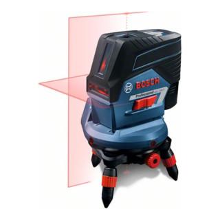 Bosch Linienlaser GCL 2-50 C, mit Baustativ BT 150, Drehhalterung RM 2, Adapter, Einlage