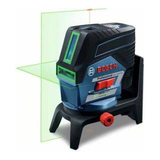 Bosch Linienlaser GCL 2-50 CG, mit Drehhalterung RM 2, 2 x 2,0 Ah Li-Ion Akku, USB Charger, 2 Einlagen, L-BOXX, Schutztasche