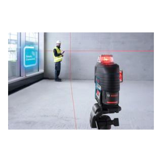 Bosch Linienlaser GLL 3-80 C mit 1 x 2,0 Ah Li-Ion Akku Halterung BM 1 L-BOXX