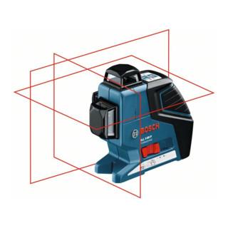 Bosch Linienlaser GLL 3-80 P mit Baustativ BT 150 L-BOXX-Einlage Gerät