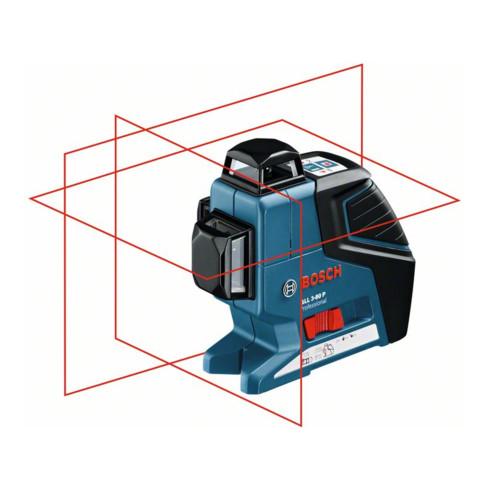 Bosch Linienlaser GLL 3-80 P, mit Baustativ BT 150, L-BOXX-Einlage, Schutztasche