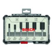 """Bosch Nutfräser-Set 1/4""""-Schaft 6-teilig"""