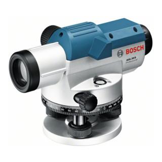 Bosch Optisches Nivelliergerät GOL 20 D, mit Stativ BT 160, Messlatte GR 500