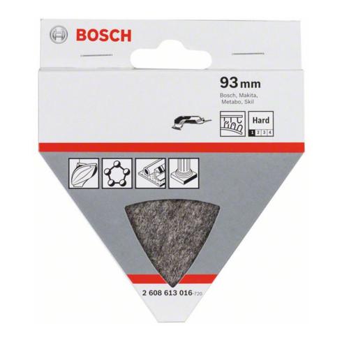 Bosch Polierfilz für Dreieckschleifer und Multi-Cutter hart Klett 93 mm