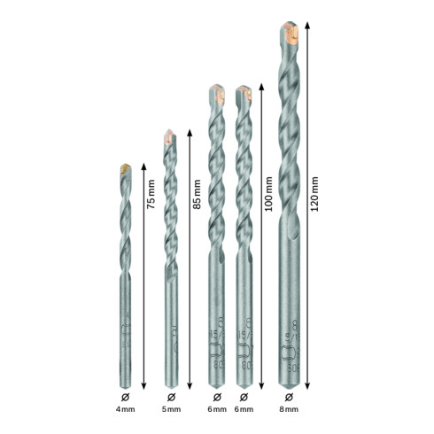 Bosch Professional Betonbohrer set für Beton 5 tlg.