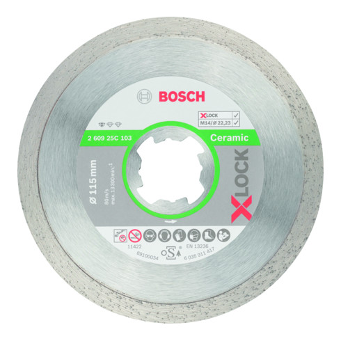 Bosch Professional Diamant Trennscheibe Standard für Fliesen, X-LOCK