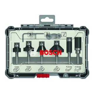 Bosch Rand- und Kantenfräser-Set 6-mm-Schaft 6-teilig