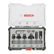 Bosch Rand- und Kantenfräser-Set, 8-mm-Schaft, 6-teilig