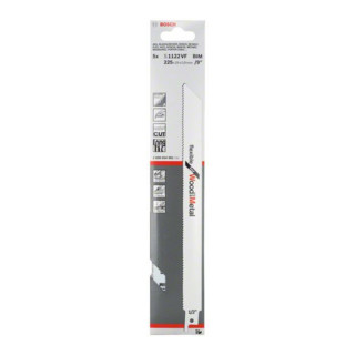 Bosch Säbelsägeblatt S 1122 VF Flexible for Wood and Metal
