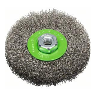 Bosch Edelstahl-Scheibenbürste mit gewelltem Draht