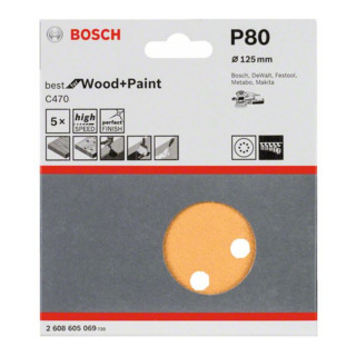 Bosch Schleifblatt C470 8 Löcher Klett